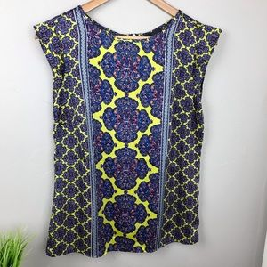The Limited Colorful Silky Geometric print top